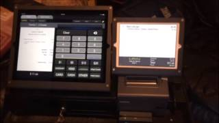 Poslavu demo with the new ipad pro pos and customer facing display - dallas systems https://www.dallaspossystems.com lavu restaurant looks wo...