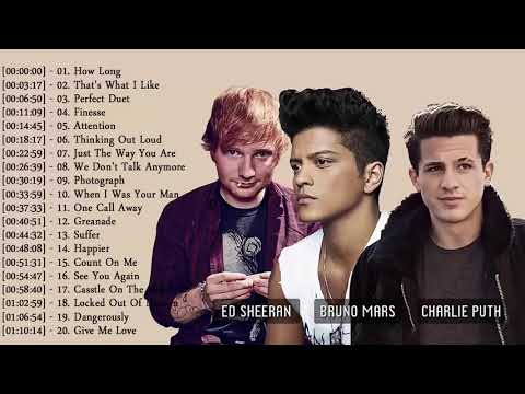 Bruno Mars, Ed Sheeran,Charlie Puth Hits Terbesar 2019 - Koleksi Lagu Pop Terbaik 2018-2019