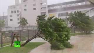Japan Typhoon Neoguri video:
