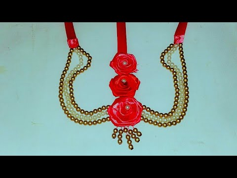 How to make flower jewellery for haldi/Diy wedding jewellery/hand ornaments for holud function/ #