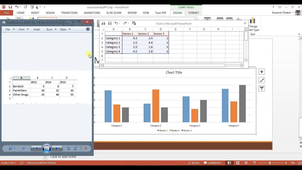 How to insert column chart bar graph in powerpoint youtube how to insert column chart bar graph in powerpoint ccuart Gallery