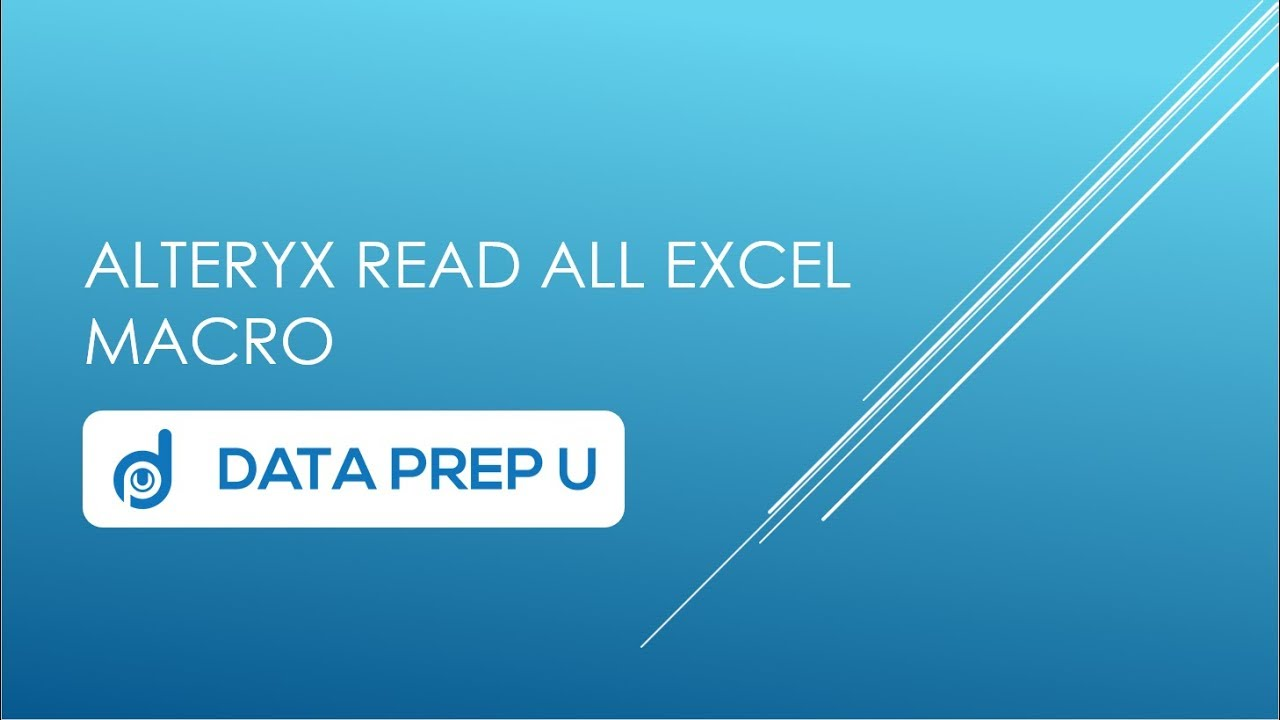 Alteryx Community Macro - Read All Excel