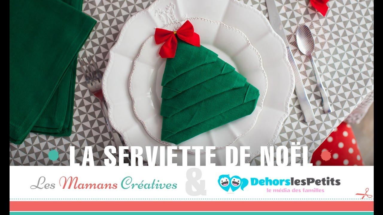 Diy Tuto Noël La Serviette En Sapin Youtube