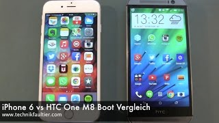 iPhone 6 vs HTC One M8 Boot Vergleich
