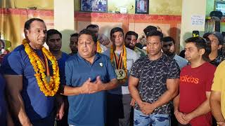 Meeting And Greetings Of European Champions In Dronacharya The Gym