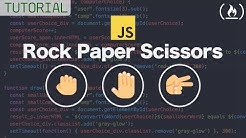 Web Development Tutorial - JavaScript,  HTML, CSS - Rock Paper Scissors Game
