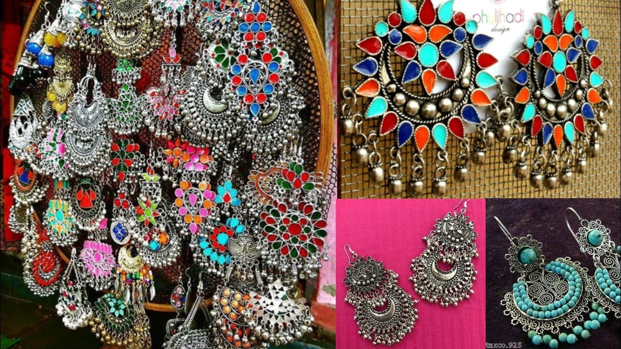 Silver Beautiful Jhumka Earrings Design Ideas For Kurta Modern