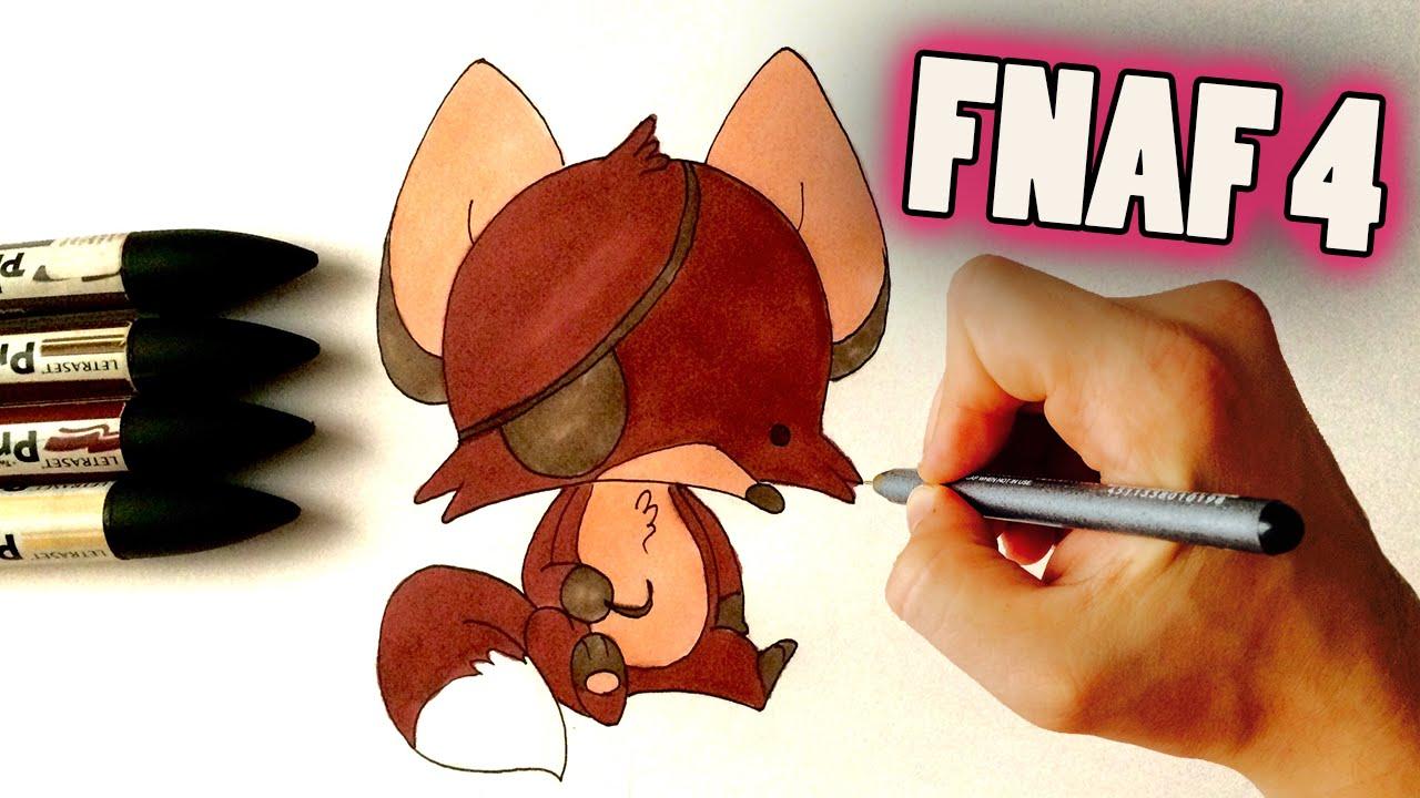 Chibi Foxy Fnaf How To Draw