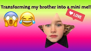 Turning my brother into a mini me!😱