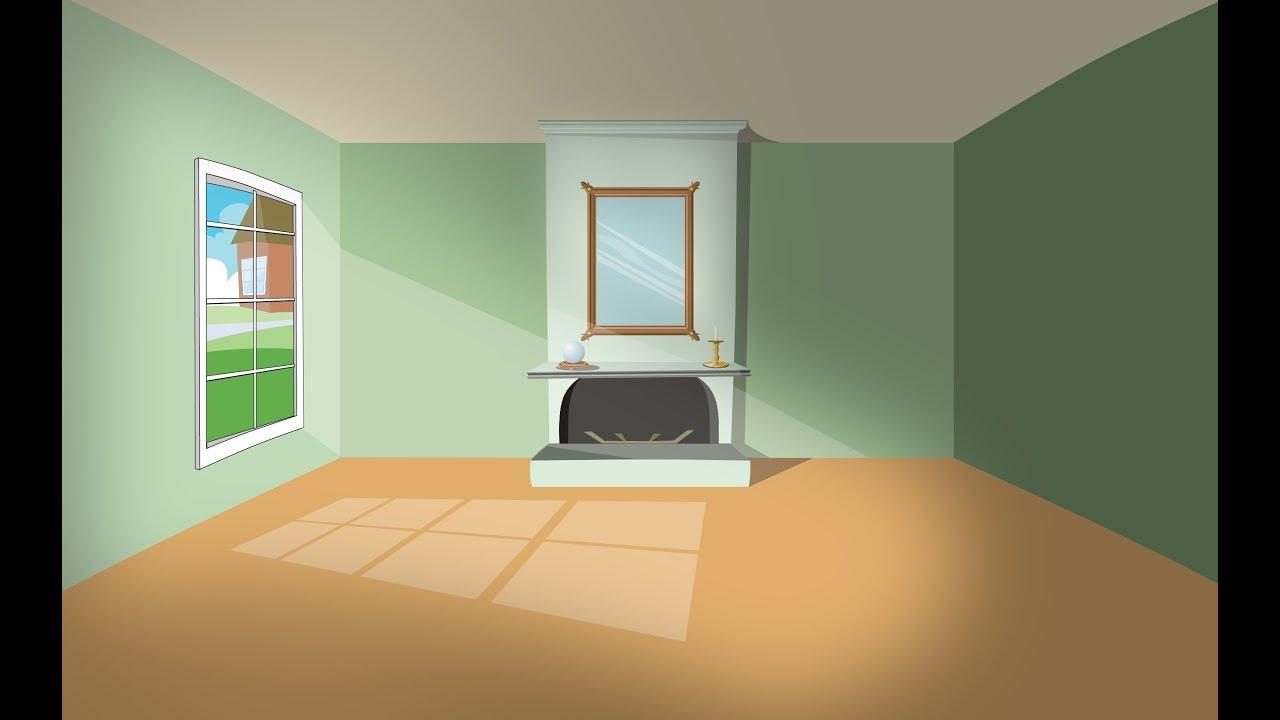 Creating a cartoon living room part 1 - YouTube
