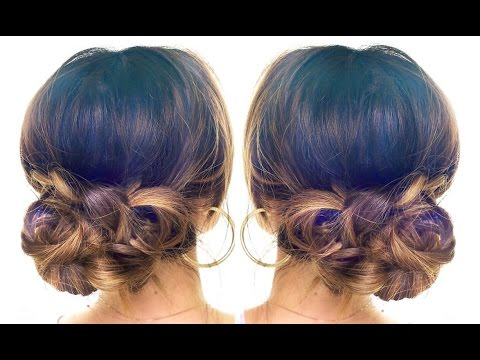 4-minute elegant bun hair tutorial