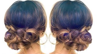 4-Minute Elegant BUN Hair Tutorial ★ EASY Updo HAIRSTYLES | Hair Tutorial