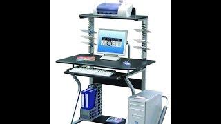 Techni Mobili Mobile Upright MDF Computer Desk, Graphite | Cheap Computer Desk