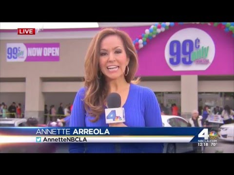 99 Cents Only Stores Grand Opening Celebration in West Covina (NBC 4)