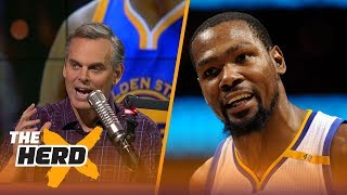 Colin cowherd: kevin durant will be closer to dirk nowitzki's legacy than lebron's | the herd
