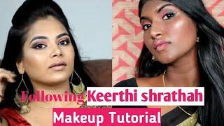 Following KEERTHI SHRATHAH Makeup Tutorial | தமிழில்| Stylish Tamizhachi
