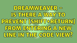 Dreamweaver - Is there a way t…
