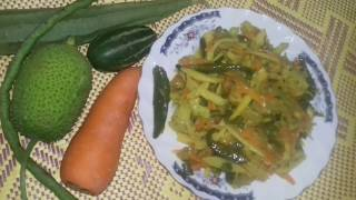 Vegetable mixed fry/ভিন্ন স্বাদে ছয় পদের সবজি ভাজি রেসিপি