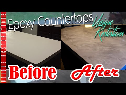 DIY Carrera Marble Epoxy CounterTop Remodel * unique restorations *