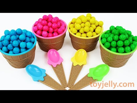 Play Doh Dippin Dots Ice Cream Cup Toys Learn Colors Kinder Surprise Eggs Baby Finger Song for Kids