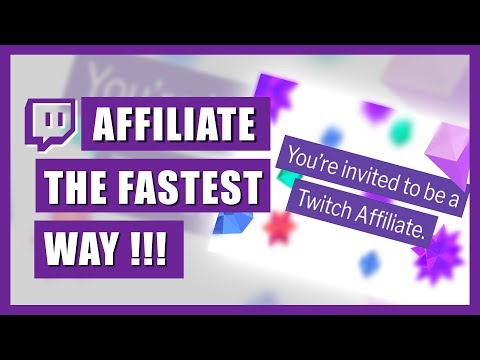 TWITCH AFFILIATE - The fastest way!
