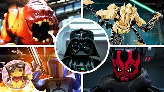 ALL BOSS FIGHTS & FINAL BOSS - Lego Star Wars The Complete Saga [1080p]