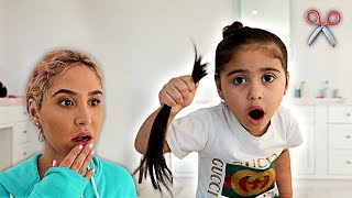 Download ELLE CUT HER OWN HAIR OFF!!! **CATHERINE FREAKS OUT** Mp3 and Videos
