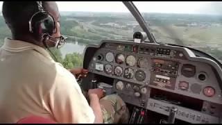 Atterrissage logne ( LFPL ) piste 08 aero club les aiglons