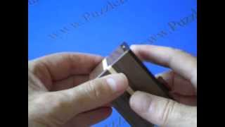 Karakuri Chocolate Cake Japanese Secret Puzzle Box