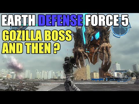 Earth Defense Force 5 The Last of Gozilla Boss and A New Boss Appeared thumbnail