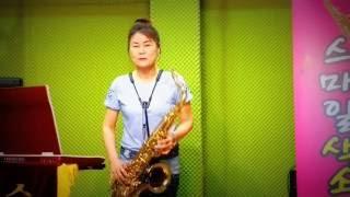 장선희색소폰~울고넘는박달재~(박재홍) 테너