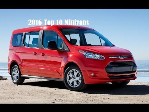 2016 Top 10 Minivans New Car