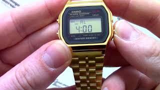 часы Casio Illuminator A159WGEA-1D - Инструкция, как настроить от PresidentWatches.Ru