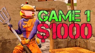 14 Year Old Plays for $1000 in FORTNITE! [ GAME 1 OF VIRALERIK TOURNEY ]
