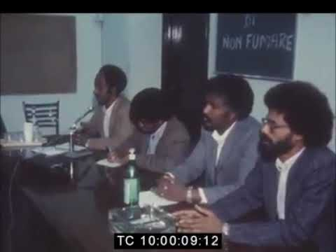 TPLF press conference in Rome 1982