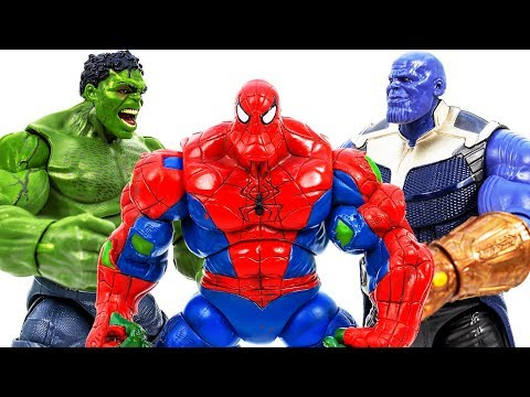 Avengers Superhero Come And Save Kids~ Thanos & Villains Come And Detroy The City #Toymarvel