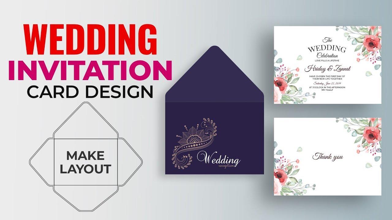 How To Make Wedding Invitation Card Design In Illustrator Wedding Envelope Design Dieline Mh