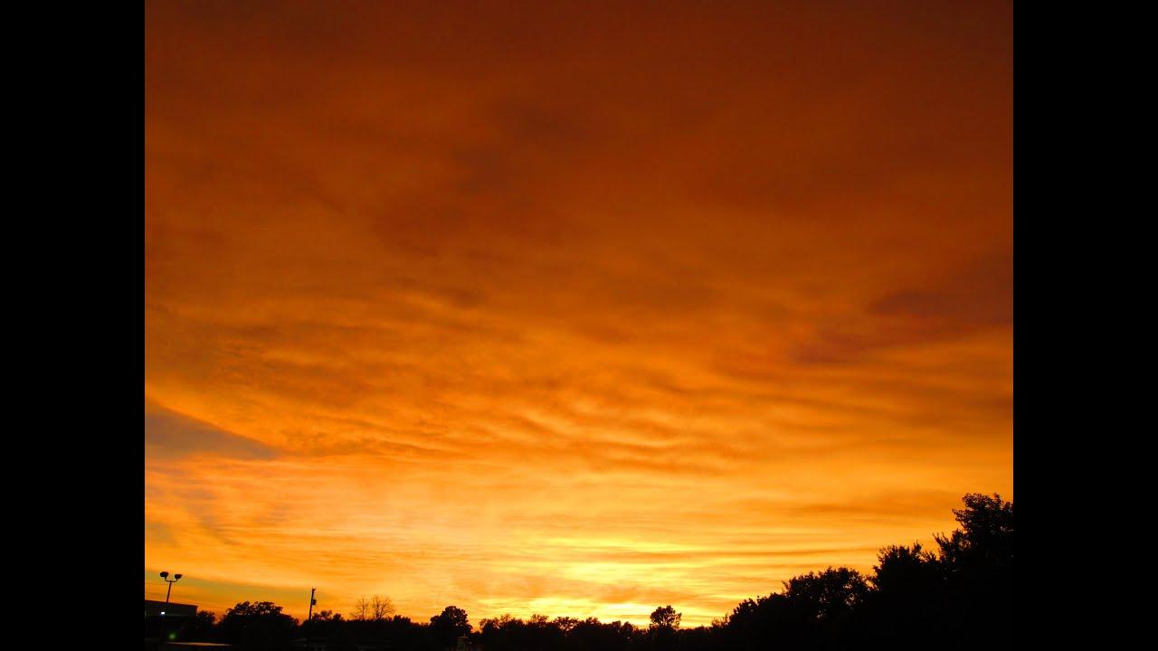Orange Sky After Severe Thunderstorm YouTube