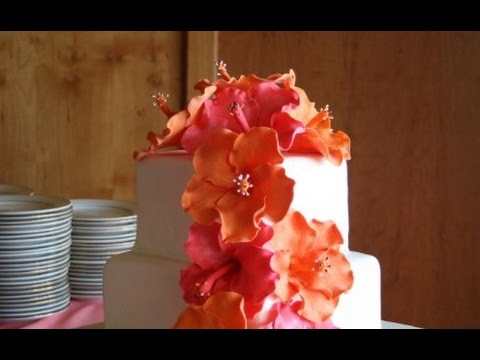 Hibiscus Wedding Cake Youtube