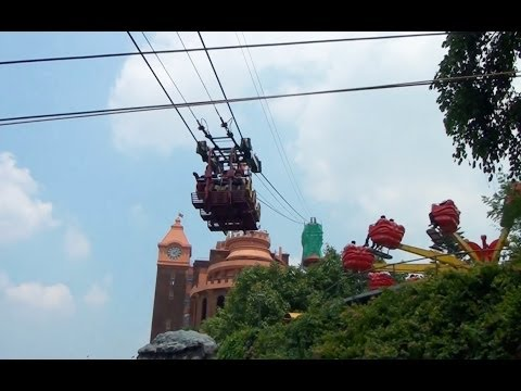 Bizarre Zipline Ride POV in India WonderLa Amusement Park Cochin India