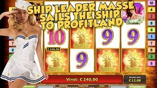 BIG WIN!!!!! Captain Venture bonus round Huge Win from LIVE STREAM (Casino Games)