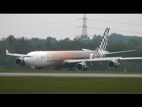 Plane Spotting at Manchester Airport - Part 2 (Inc. Etihad G