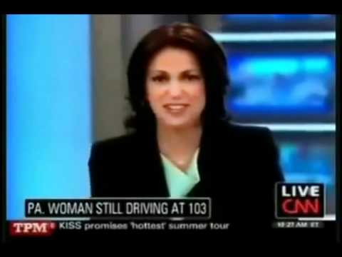 CNN anchor plays the wrong music live 103 year old lady