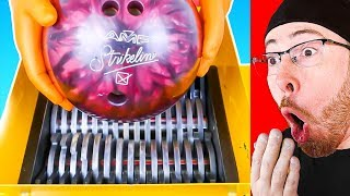 BOWLING BALL VS SHREDDING MACHINE!? YOU HAVE TO SEE THIS!