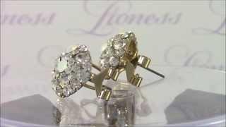 Позолоченные серьги с кристаллами Swarovski