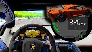 340 km/h Lamborghini vs Ferrari - City Car Driving + incidenti