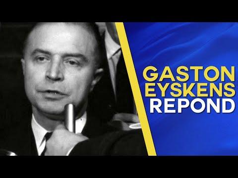 Gaston Eyskens réagit au Conseil de sécurité de l'ONU exigeant le retrait Belge du Congo