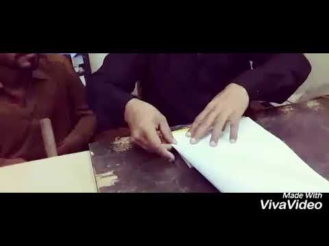 Process of Making  Paper Bag for Cover the book