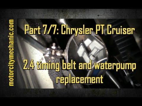 Part 7/7: Chrysler PT Cruiser timing belt and waterpump