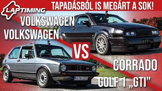 "Tapadásból is megárt a sok! - Volkswagen Golf ""GTI"" vs. Volkswagen Corrado (Laptiming ep.150)"